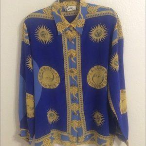 Vintage oversized Astrology blouse